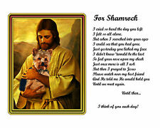 Unique Christmas Gift-Pet Memorial-w/Jesus-Personalized w/Pet's Picture & Name