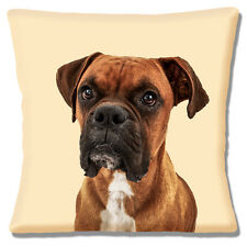 "NEW YOUNG BOXER PUPPY DOG TAN WHITE BLACK PHOTO PRINT 16"" Pillow Cushion Cover"