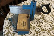 "VINTAGE ~ MITRE MASTER TABLE SAW STAND 13 1/2'' X 9"" & CORSAIR 12"" BLADE SAW"