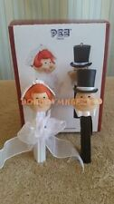 Carlton Cards 2007 PEZ Bride Groom Wedding Christmas Ornament set