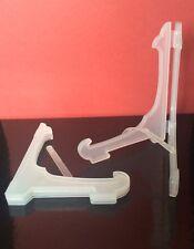 """10 x 5 """"de plástico Plegable placa soporte de exhibición Relojes, Tazones bookatrix Tarjetas Opaco"""