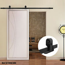 6.6 FT Sliding Barn Door Hardware Interior Track System rollers Antique Modern