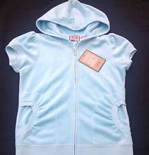 NWT Juicy Couture New Genuine Ladies Small UK 8/10  Light Turquoise Velour Hoody