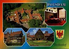 POTSDAM Mehrbild-AK Cecilienhof frankiert mit alten Marken Deutsche Post