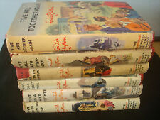 Set of 6 Famous Five Books with DJs Enid Blyton, H & S.