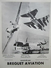 1967-1968 PUB BREGUET AVIATION BREGUET 941 STOL 1150 ATLANTIC JAGUAR FRENCH AD