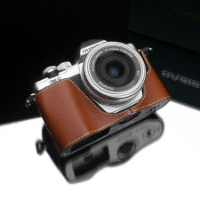 GARIZ Leather Case for Olympus EM10II E-M10 II XS-CHEM10IICM Camel Brown