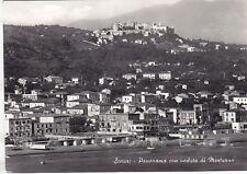 LATINA MINTURNO 07 SCAURI SPIAGGIA BAGNI Cartolina FOTOGRAFICA viaggiata 1957