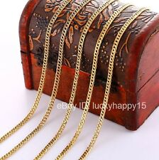 Bulk Wholesale 5pcs 3mm Gold Filled Women Mens Curb Rolo Link Chain Necklace 18""