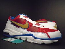 Nike Air Max TRAINER SC 2010 Low MANNY PACQUIAO 1 WHITE RED BLUE GOLD BLACK 12