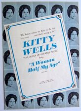 KITTY WELLS 1966 Poster Ad A WOMAN HALF MY AGE