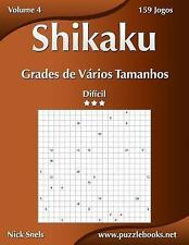 Shikaku: Shikaku Grades de Vários Tamanhos - Difícil - Volume 4 - 159 Jogos...