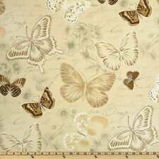 "COVINGTON BUTTERFLY DRIFTWOO DESIGNER HOME DECOR FABRIC 54"" 100% COTTON SOLD BTY"