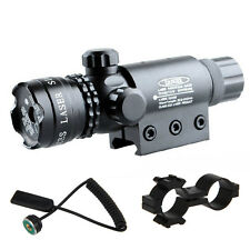 Adjusted Red Dot Laser Sight Scope 20mm Picatinny Rail Mount 4 Rifle Gun Hunting