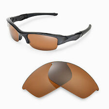 New Walleva Polarized Brown Replacement Lenses For Oakley Flak Jacket Sunglasses
