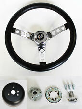 1967-1968 Buick Skylark Riviera GS Black and Chrome Steering Wheel 14 1/2""