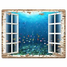 PP0592 French Window Under the Sea Chic Sign Shop Store Cafe Home Room Decor