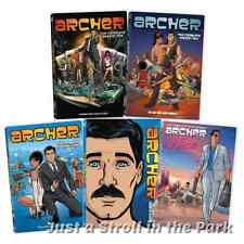 Archer: The FX TV Series Complete Seasons 1 2 3 4 5 DVD Box Sets + Extras NEW!