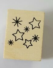 Wood Backed Rubber Stamp Princess Hero Arts Stars