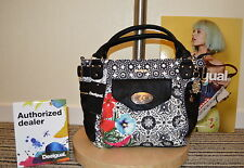 DESIGUAL 2016 big BLACK White Red BAG 61X50W1/2000 Bols_MCBee Eixample Tropical