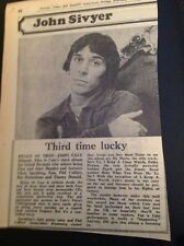 L3-6 Ephemera 1976 Picture Article John Cale Album Review Helen Of Troy