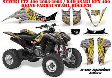 Amr racing decoración Graphic kit ATV suzuki ltz & Kawasaki KFX Iron Maiden-killers B