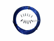 SPEARGUN MONO COIL 100ft 300# w/ 12 pcs CRIMPS, BLUE