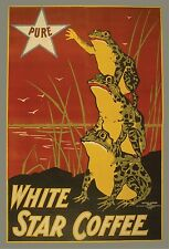 WHITE STAR COFFEE Vintage Advertising Reproduction Rolled CANVAS PRINT 24x33 in.