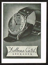 1940's Small Vintage 1945 Delbana Watch Co. - Paper Print AD