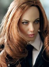 Custom Angelina Jolie 1/6 Scale Head Sculpt for Kumik Female Body