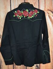 ROPER Old West ROSE FLORAL Embroidery ARENA Western SHIRT COWGIRL NWT 1X