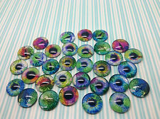Pack of 32 glass cabochon eyes 16 pairs 16mm in diameter Dragon Cat Human Mixed