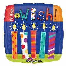 "Make A Wish Candles Foil Birthday Balloons 5 PC - 18""/45cm"