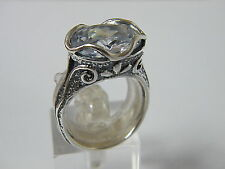 Vintage Rare Vintage Shablool Sterling Silver Ring Cubic Zirconia For Women