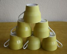Mid Century Contempri Paul McCobb Yellow Porcelain Tea Coffee Cups Set of 6