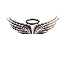 Silver 3D Angel Fairy Wings Car Auto Truck Logo Emblem Badge Decal Sticker MW