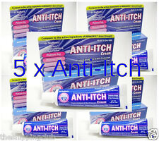 5 x ANTI-ITCH CREAM 1.25oz Anesthetic Pain Bites Ivy Itch Relief Dr Sheffield's