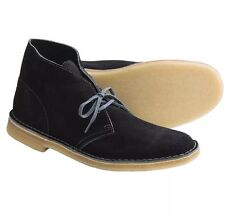 New Clarks Desert Boot Black Suede / Gray 63292 Sz 9M