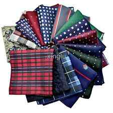 "New 101 Color Lot 20 pack Mens Silk Pocket Square 10"" Handkerchief Checks Hanky"