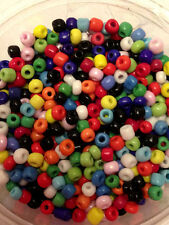 50g glass seed beads - Mixed Opaque - approx 4mm (size 6/0) colour mix