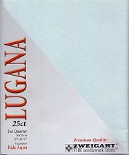 Prepack Zweigart 25ct Lugana Fabric Pale Aqua Fat Quarter - 50 x 70cm