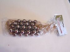 9 FT Taupe Shiny Beads On A Sheer Ribbon Garland Christmas Holiday Decoration