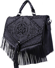 Restyle Gothic Goth Boho Witch Bag Satchel Briefcase Faux Leather Vegan Bohemian