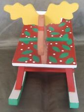Dept 56 Wooden Rocking Raindeer Christmas Ornament