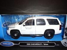 Welly Chevrolet Tahoe 2008 Police White 1/24