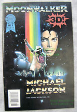 Michael Jackson MOONWALKER Comic #1 Blackthorne 3-D Series VERY NICE - BIG PICS