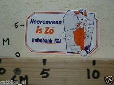 STICKER,DECAL RABOBANK HEERENVEEN IS ZO