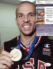 JASON KIDD USA GOLD WITH MEADAL SIGNED AUTOGRAPHED 8X10 PHOTO J01381