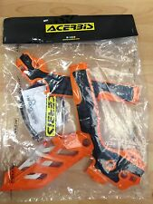 KTM  EXC 125  150  200  250  300  2012-2016  ACERBIS ORANGE & BLACK FRAME GUARDS