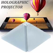 HOLOGRAPHIC PROJECTOR PYRAMID HOLOGRAM 3D FOR IPHONE SAMSUNG CELLULARE HTC LG